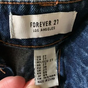 New with tags, forever 21 high waisted jean shorts